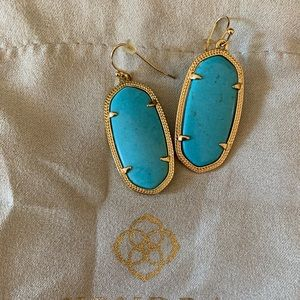 Kendra Scott Elle Earrings Turquoise/ Gold